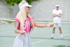 Brandi Bae - Rogue Tennis Ball Produces An Anal Racket (Thumb 35)