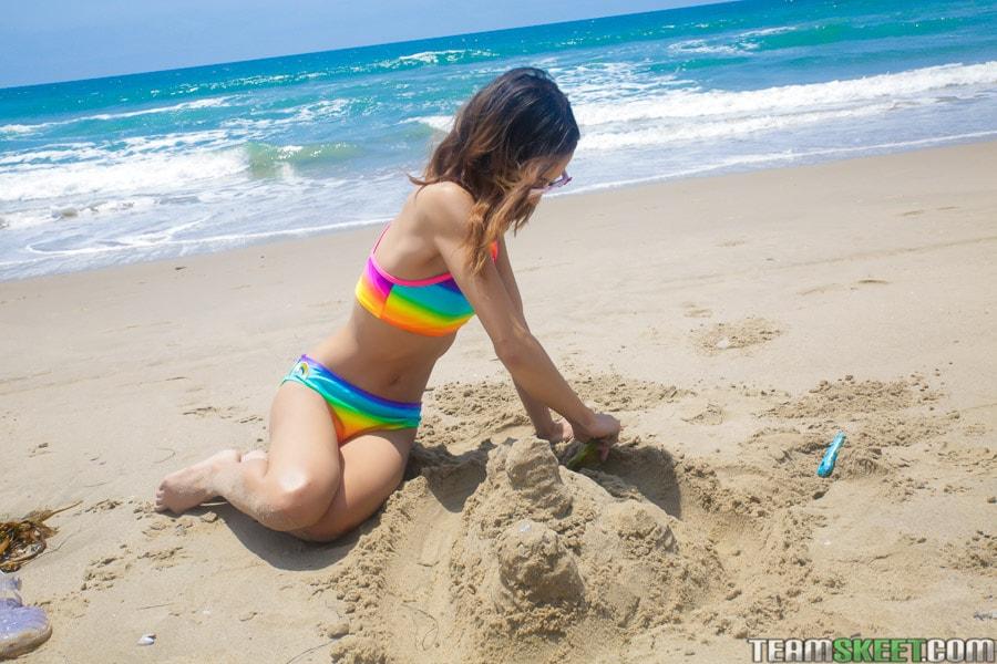Team Skeet 'Petite Beach Babe Gets Boned' starring Jasmine Grey (Photo 12)